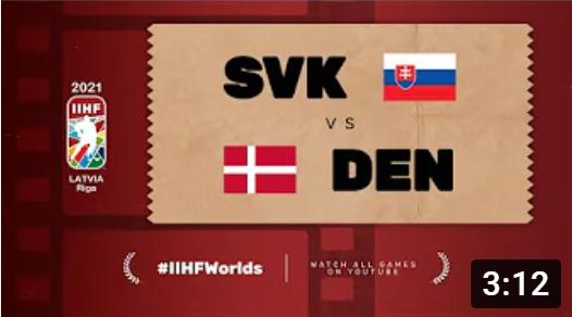 Хоккей. ЧМ в Латвии 2021. Cловакия - Дания. Highlights