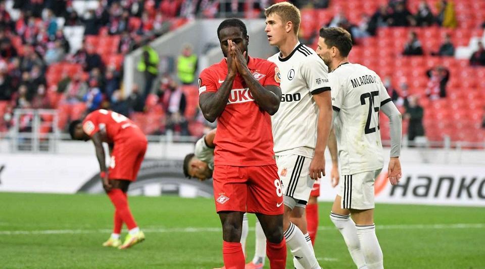 «Спартак» уступил в первом матче Лиги Европы польской «Легии»