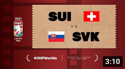 Хоккей. ЧМ в Латвии 2021. Швейцария - Словакия. Highlights