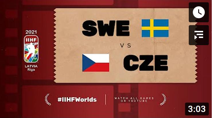 Хоккей. ЧМ в Латвии 2021. Швеция - Чехия. Highlights