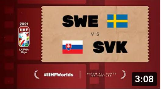 Хоккей. ЧМ в Латвии 2021. Швеция - Словакия. Highlights