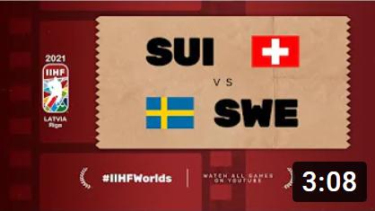 Хоккей. ЧМ в Латвии 2021. Швеция - Швейцария. Highlights