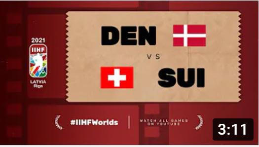 Хоккей. ЧМ в Латвии 2021. Швейцария - Дания. Highlights