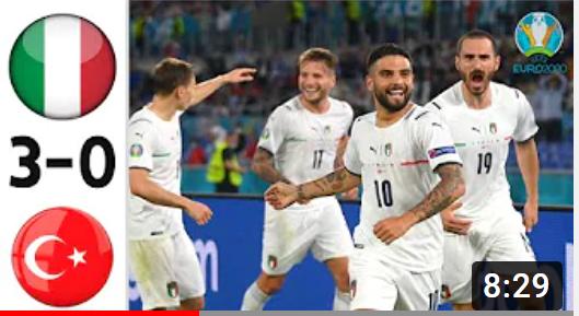 EВРО-2020. Италия - Турция. Обзор лучших моментов матча