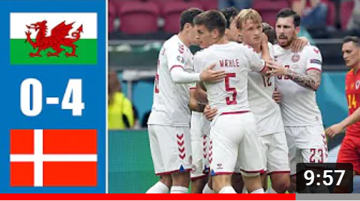 EВРО-2020. Уэльс - Дания. Обзор лучших моментов матча