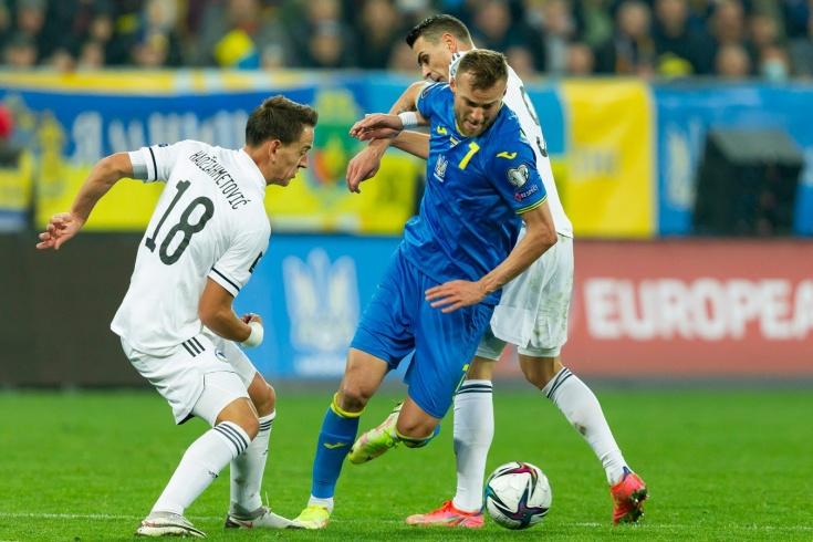 Сборная Украины упустила победу над Боснией и Герцеговиной в отборочном поединке на ЧМ-2022