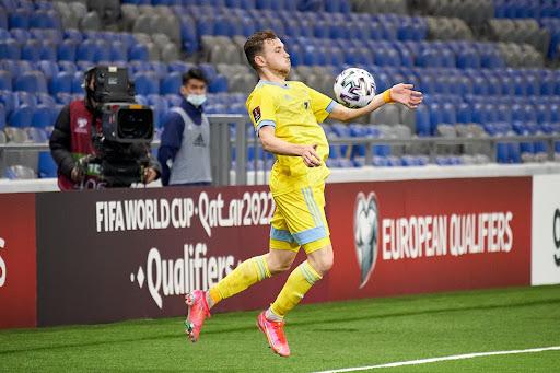 Полузащитник Казахстана, который дважды отличился в матче против Украины, получил положительный результат на допинг