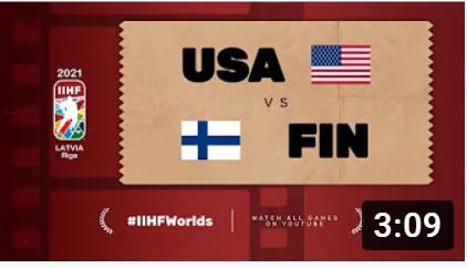 Хоккей. ЧМ в Латвии 2021. Финляндия - США. Highlights