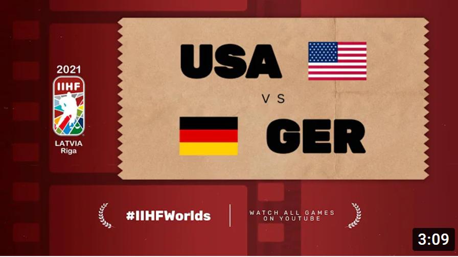 Хоккей. ЧМ в Латвии 2021. США - Германия. Highlights