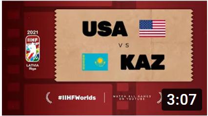 Хоккей. ЧМ в Латвии 2021. США - Казахстан. Highlights