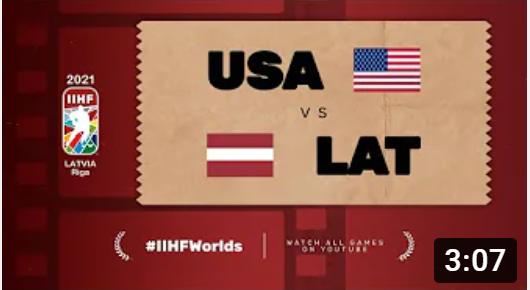 Хоккей. ЧМ в Латвии 2021. США - Латвия. Highlights