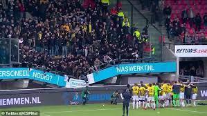 Под фанатами «Витесса» обвалилась трибуна стадиона «Де Гофферт»