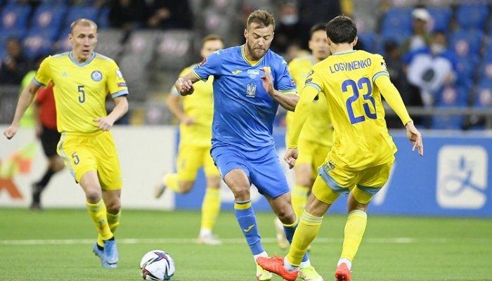 В рамках отбора на ЧМ-2022  Украина упустила победу над сборной Казахстана на последних минутах матча