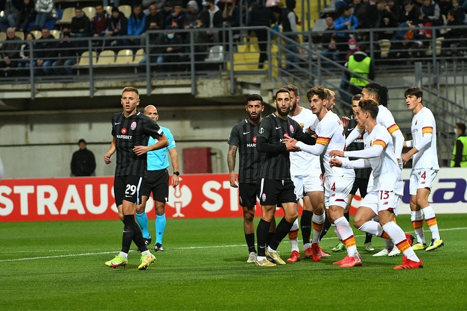 «Заря» без шансов проиграла «Роме» во втором туре группового этапа Лиги конференций